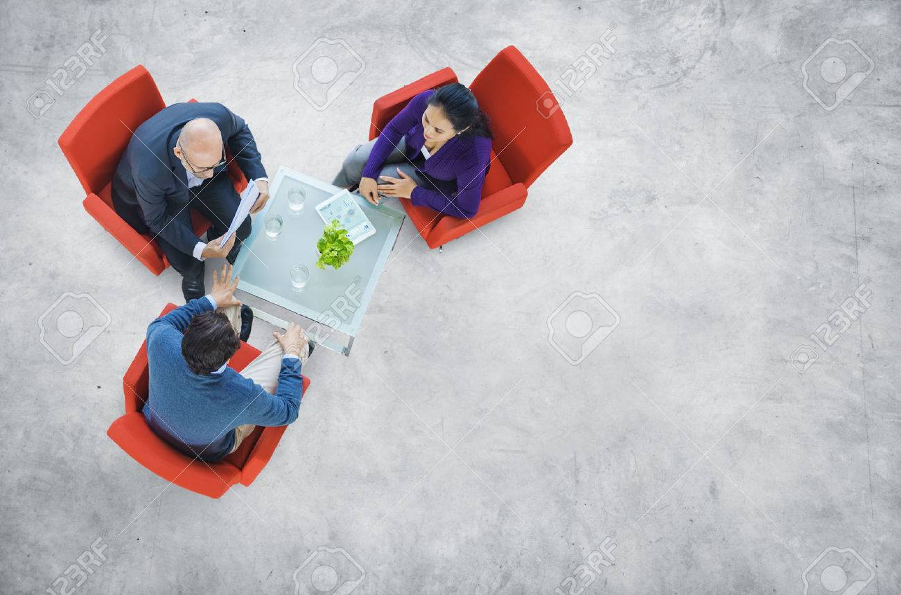 Business People Having a Discussion in an Industrial Building Stock Photo - 31312645