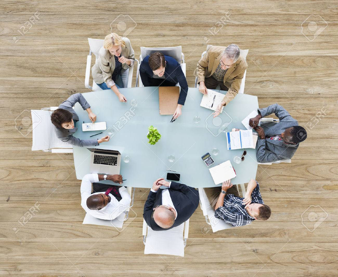 Group of Business People in a Meeting - 31312781
