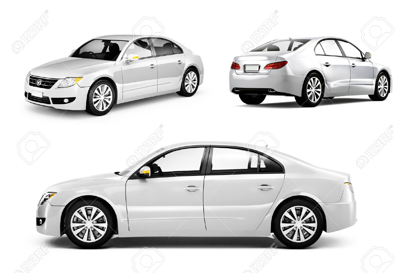 Three Dimensional Image of a White Car - 31313629