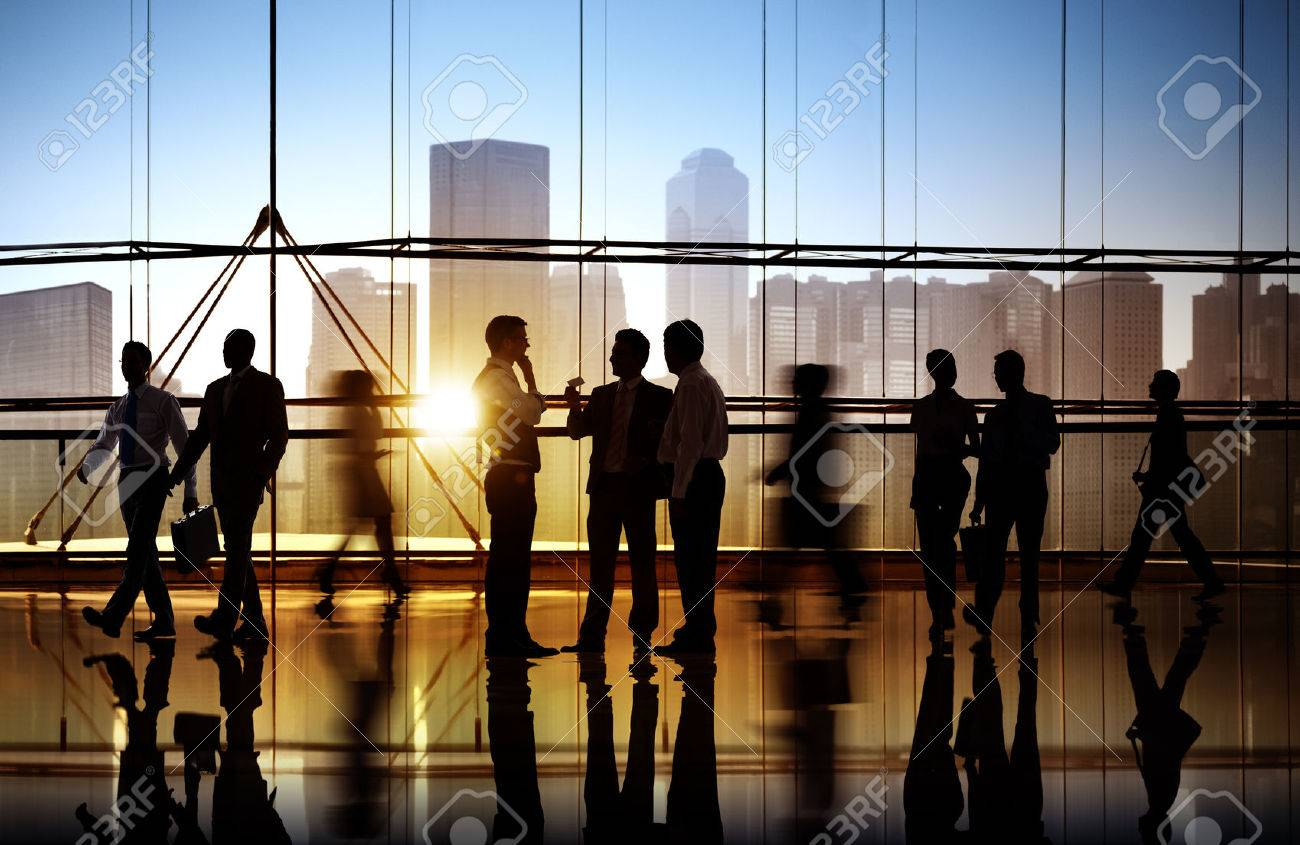 Group of Business People in Office Building Stock Photo - 31335637