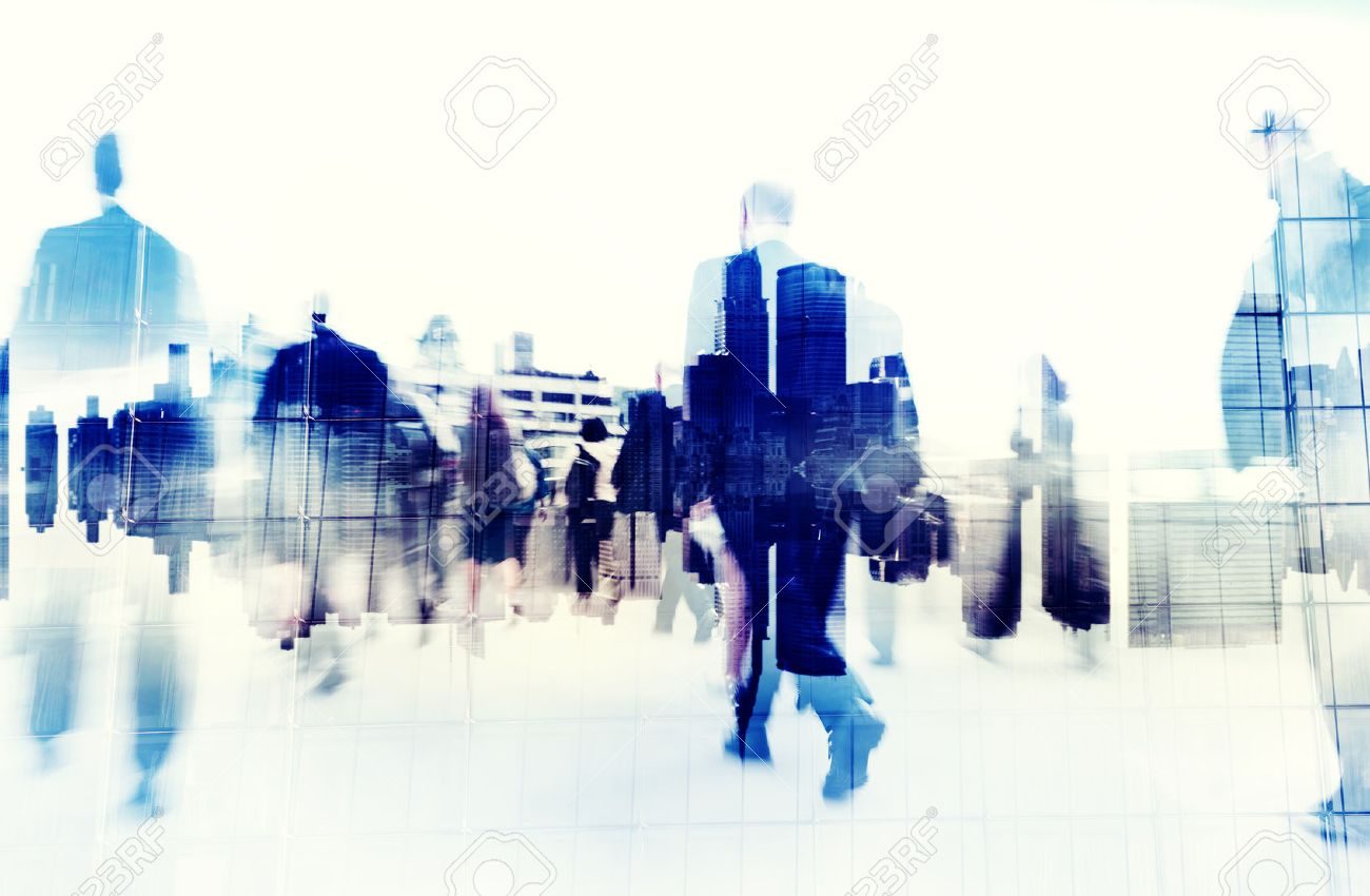 Business People Walking on a City Scape - 31336884
