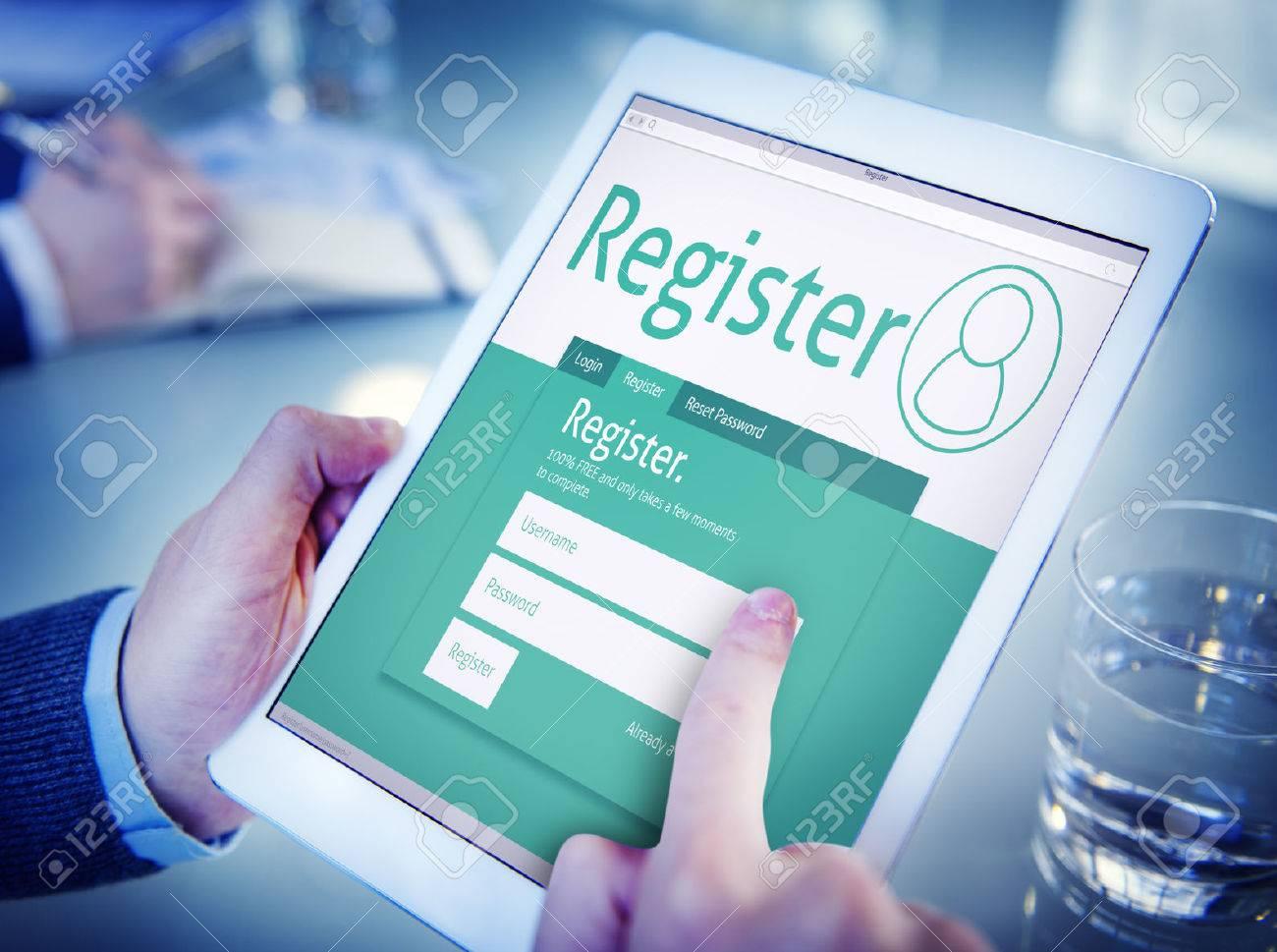 Man Having an Online Registration - 34537670