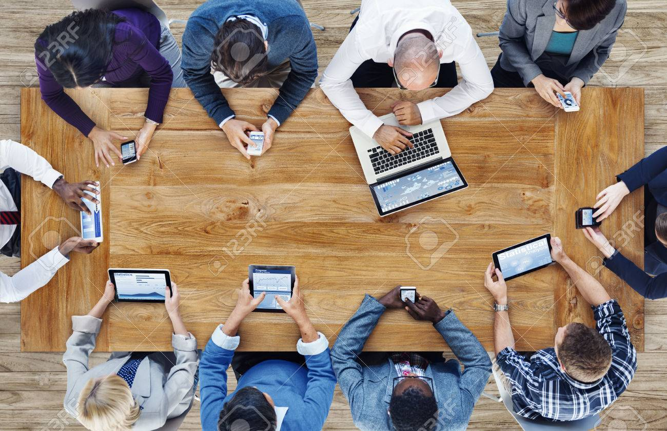 Group of Business People Using Digital Devices Stock Photo - 34573717