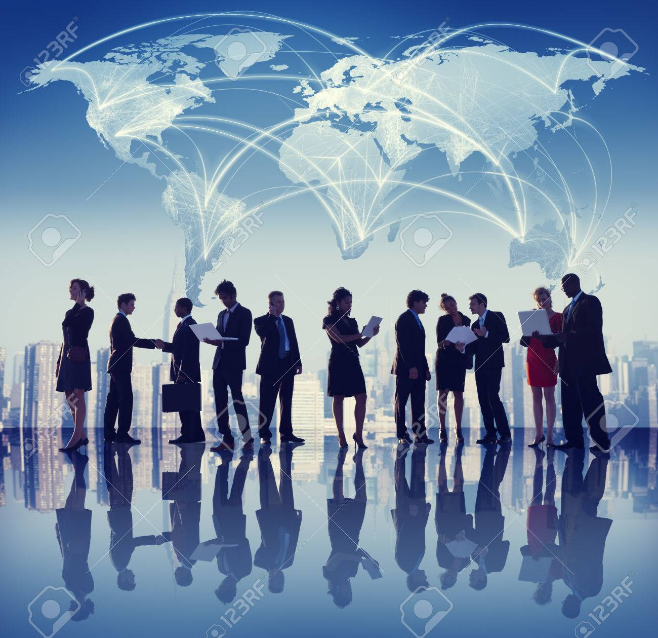 Global Business People Meeting Working City Concept - 34402170