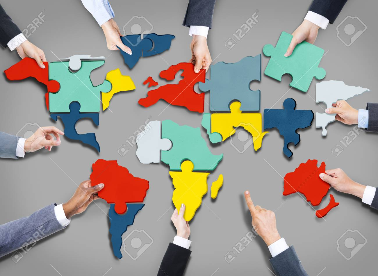 Corporate business team world map jigsaw puzzle concept stock photo corporate business team world map jigsaw puzzle concept stock photo 38482542 gumiabroncs Image collections