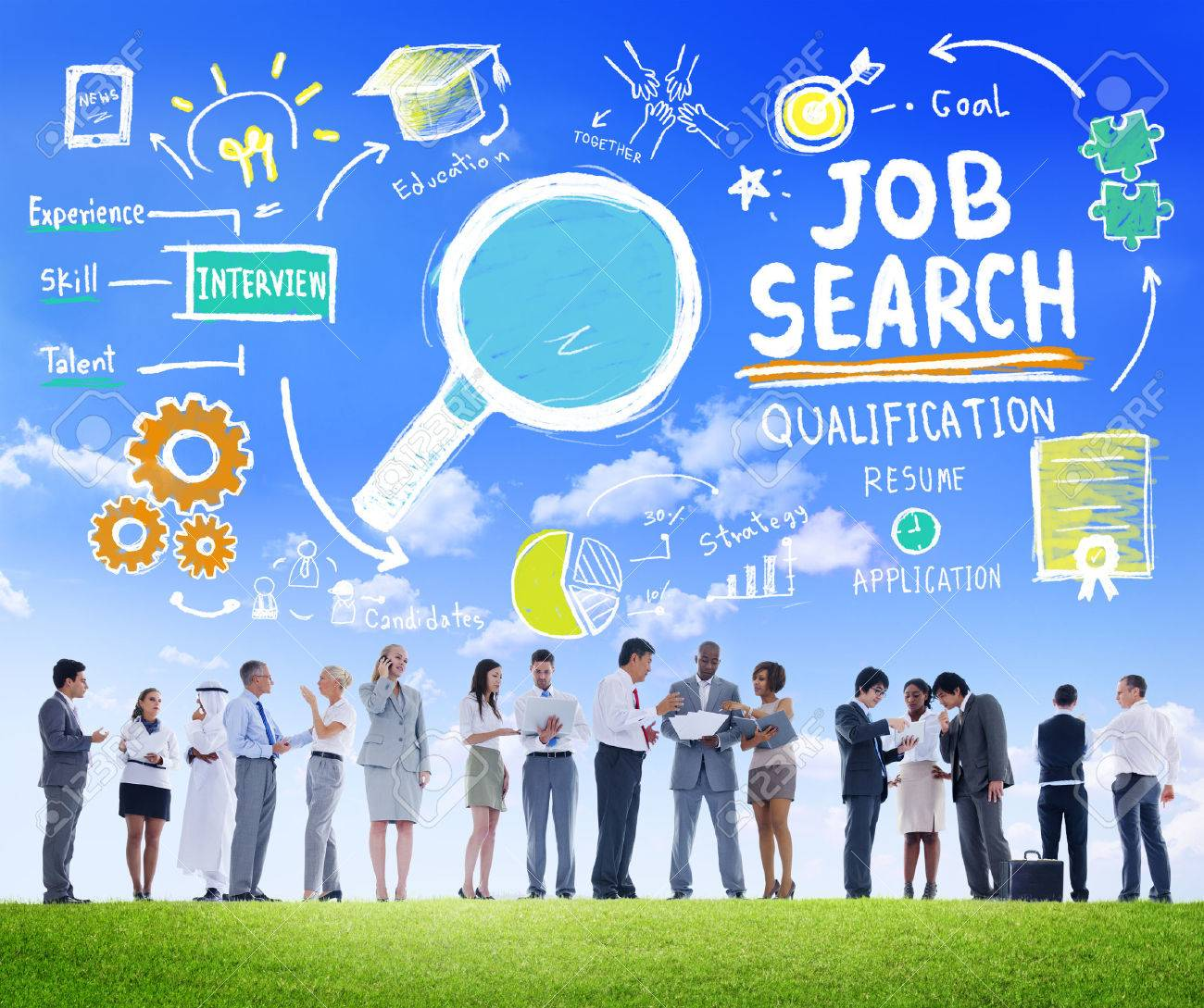 Business People Discussion Aspiration Job Search Concept Stock ...
