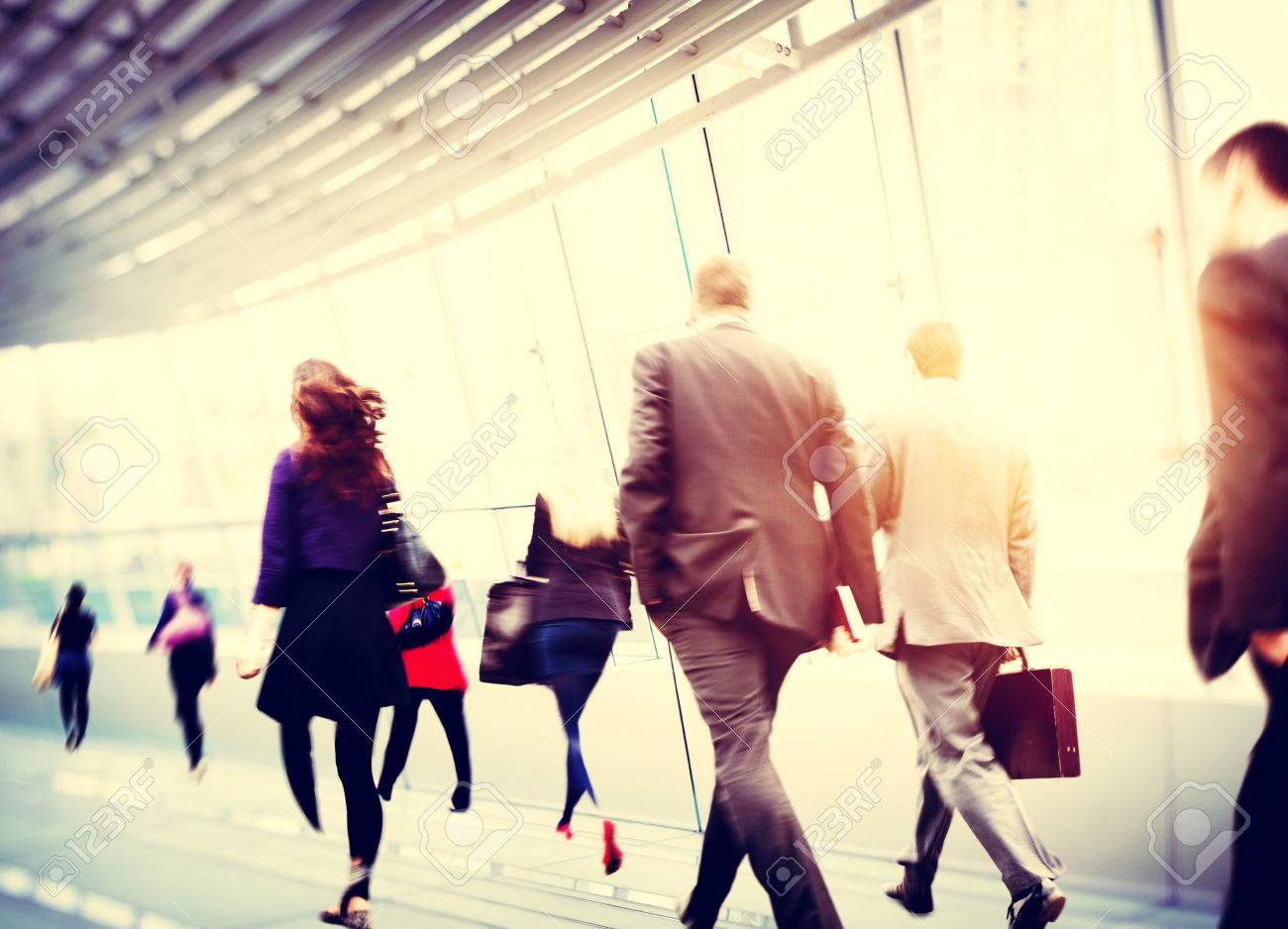 Business People Walking Commuter Travel Motion City Concept Stock Photo - 38521264