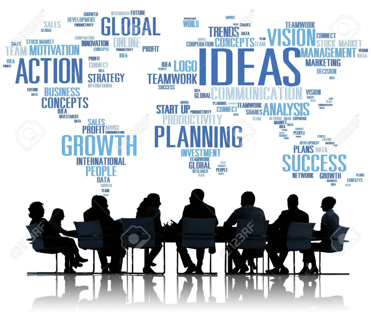 global business people meeting creativity ideas concept stock photo