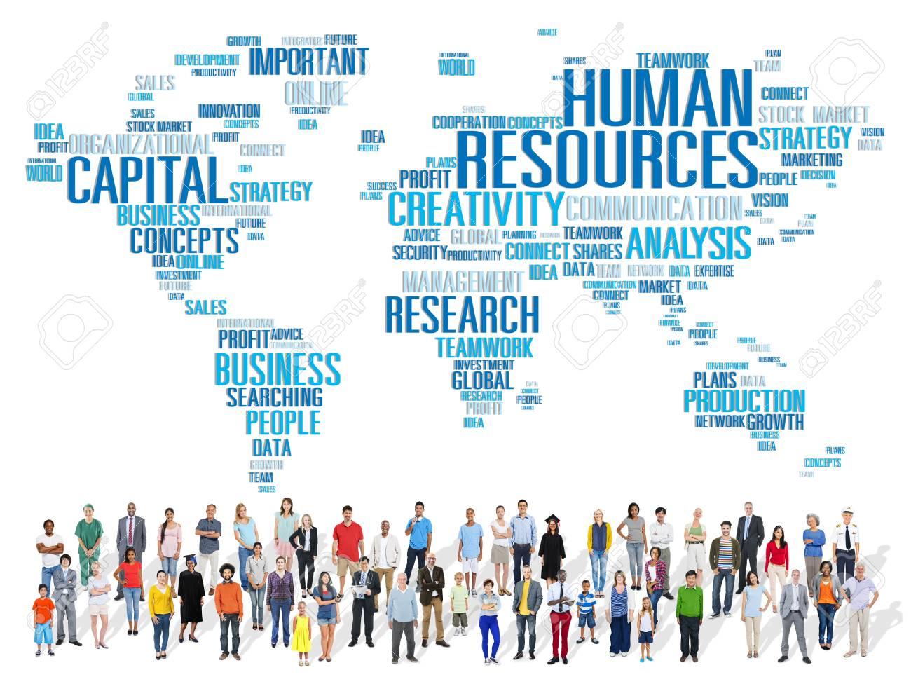 Human Resources Karriere Jobs Beruf Beschäftigung Konzept