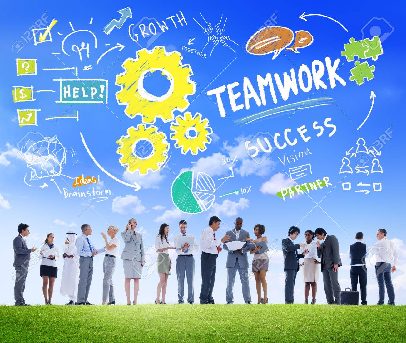 Teamwork Team Together Collaboration Business People Communication Concept - 39109408