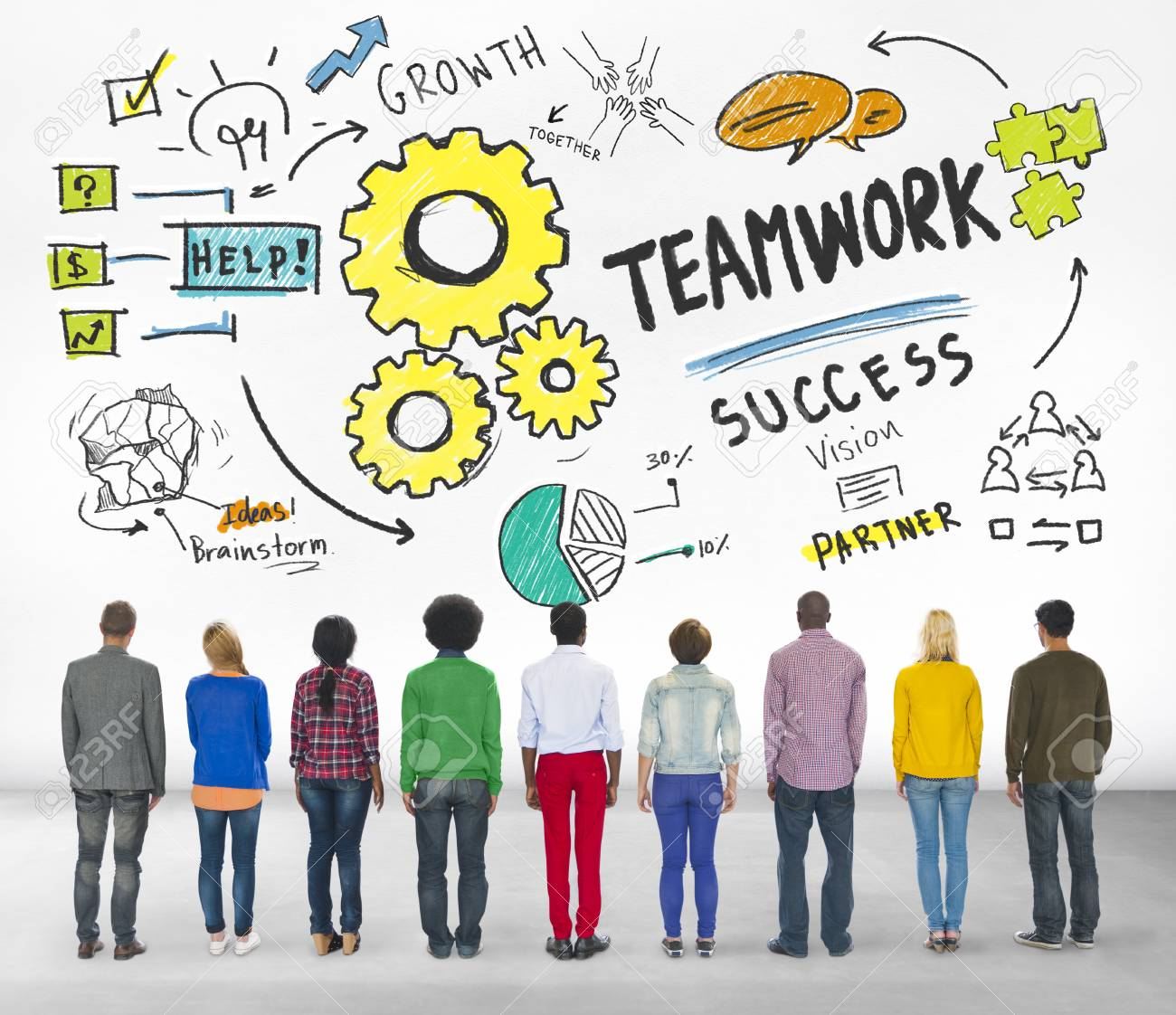 Stock Photo Teamwork Team Together Collaboration Group People Diversity Concept