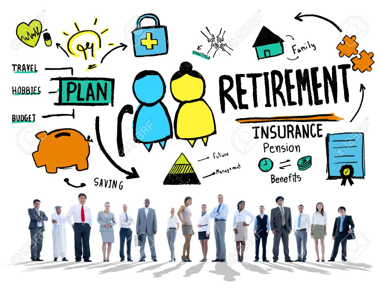business people employee retirement vision aspiration career business people employee retirement vision aspiration career concept stock photo 41148134
