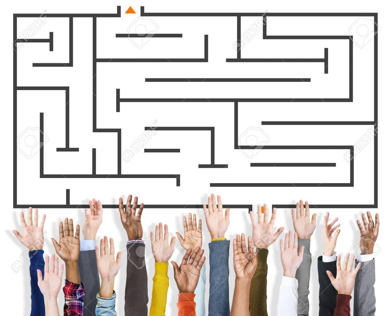 Problem Solving Maze Trap Solution Concept