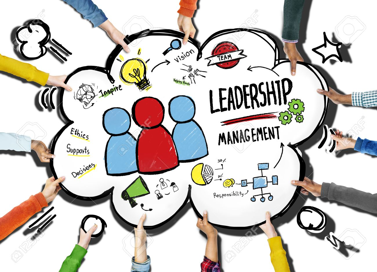 diversity hands leadership management team support volunteer stock