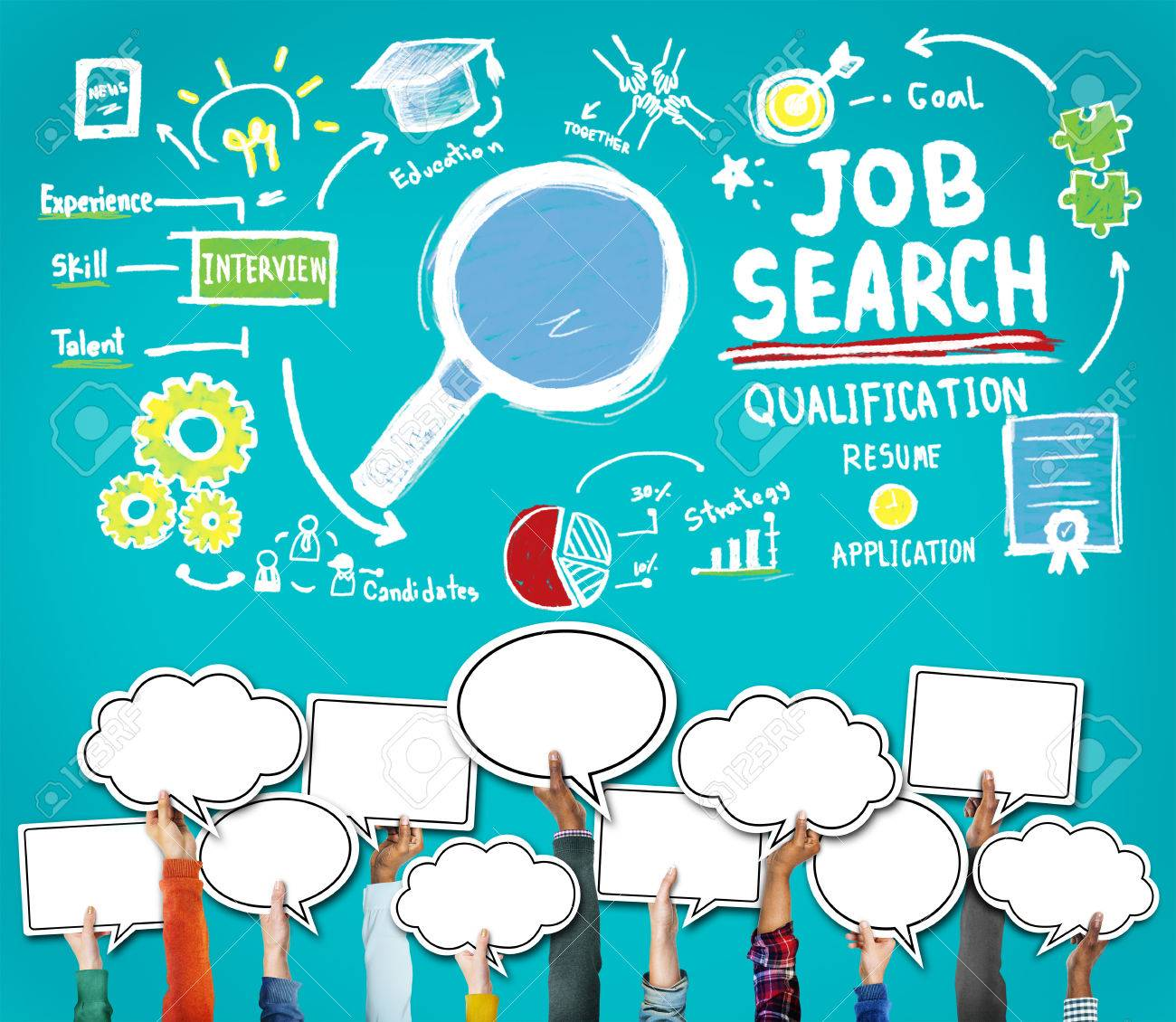 Job Search Qualification Resume Recruitment Hiring Application ...