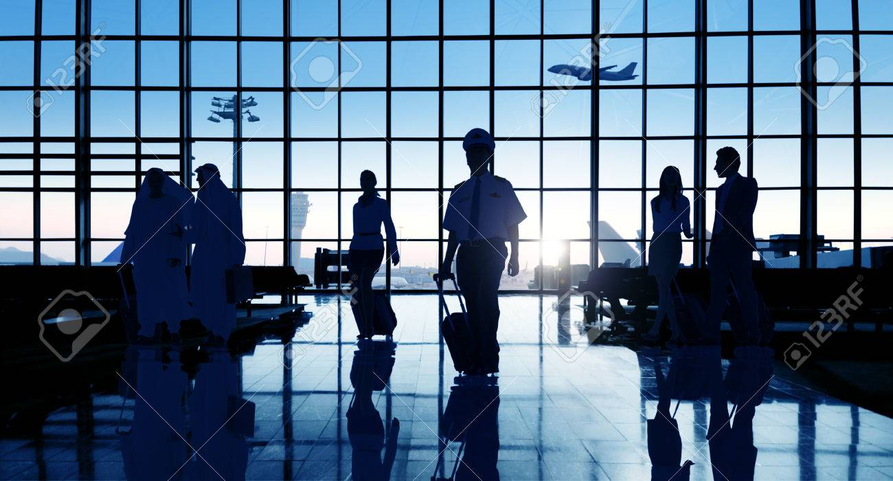 Back Lit Business People Traveling Airport Passenger Concept - 41324097