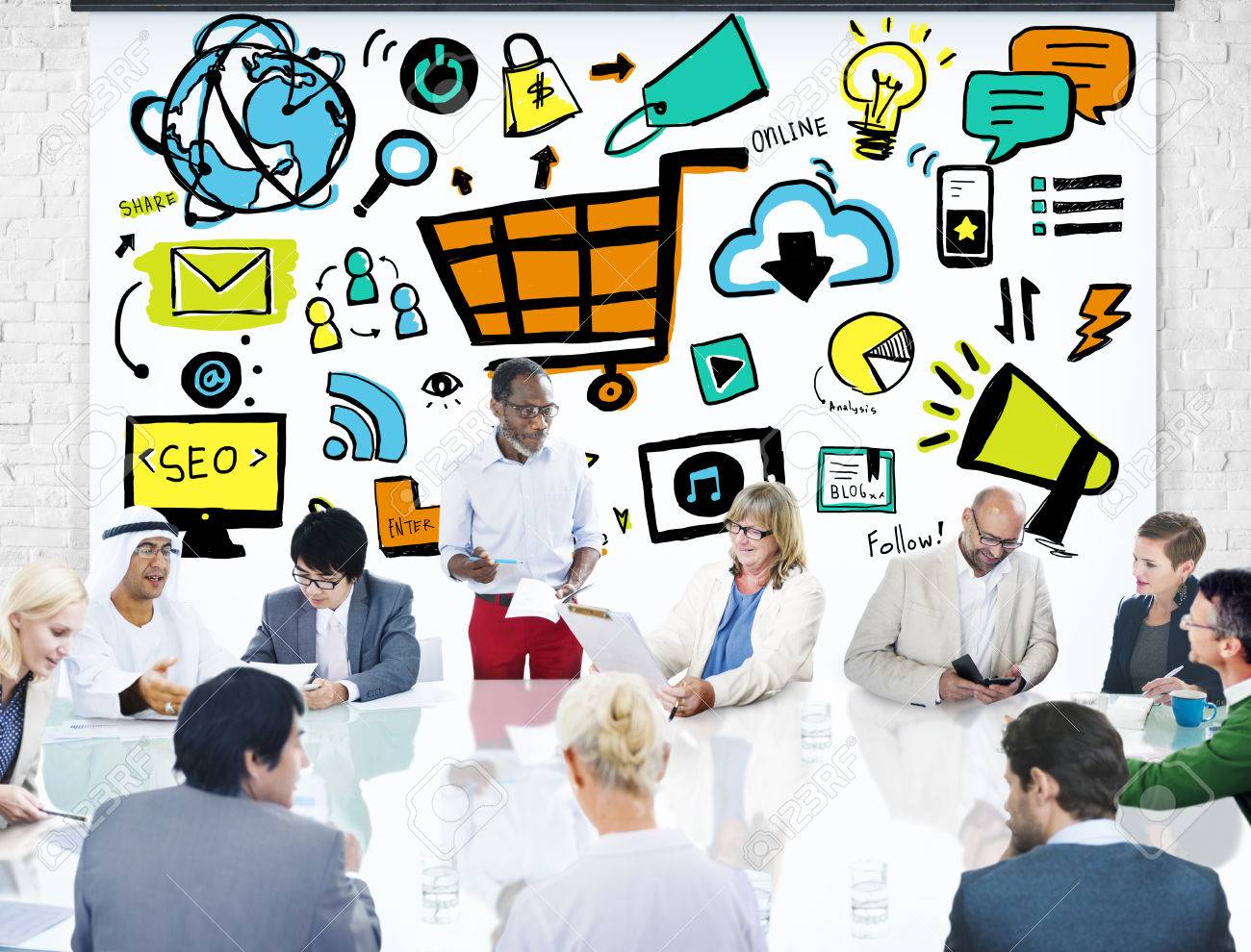 Image result for free images of people in marketing meeting