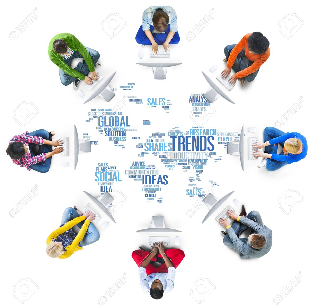 Trends world map marketing ideas social style concept stock photo stock photo trends world map marketing ideas social style concept gumiabroncs Choice Image