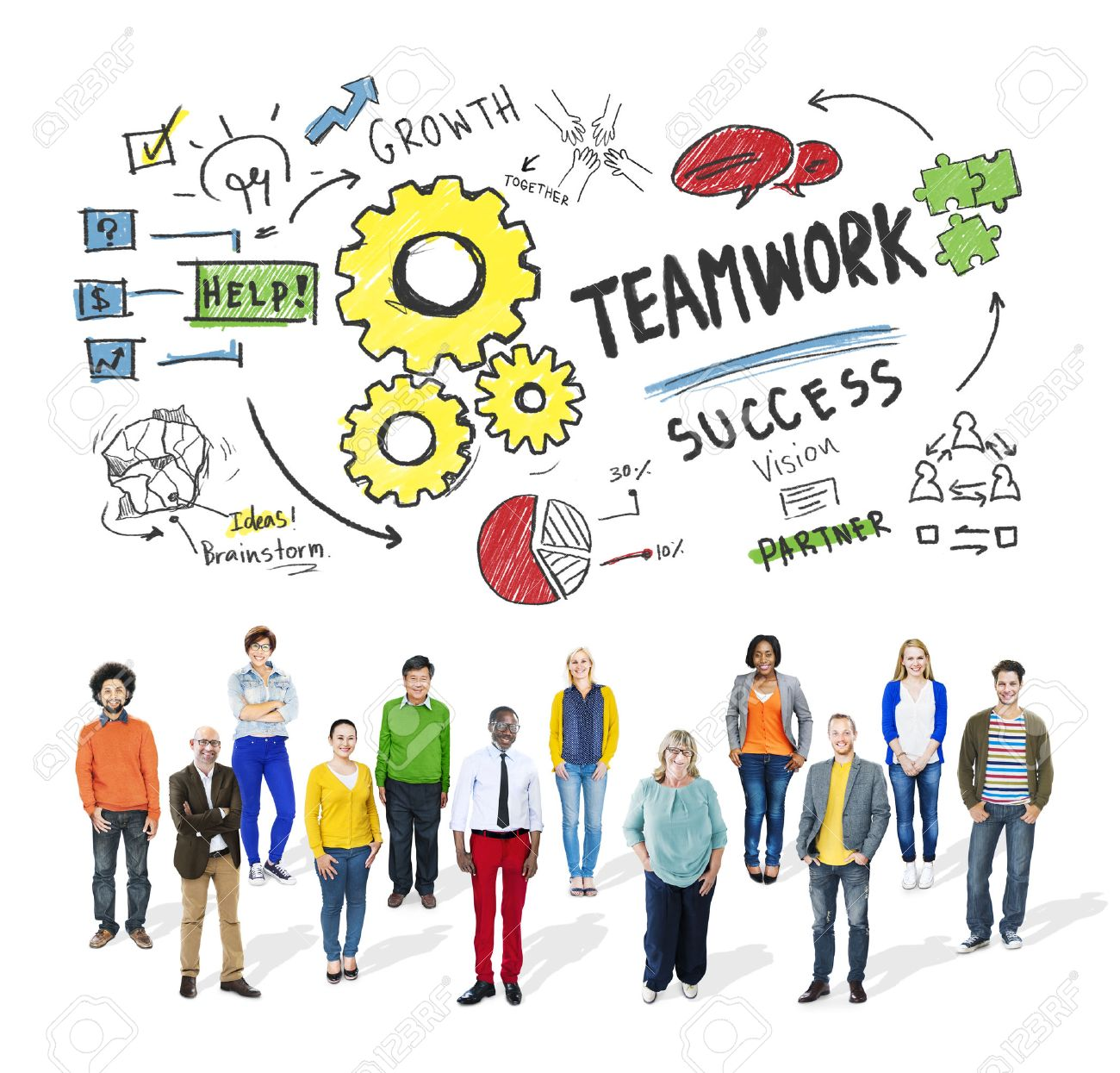 Stock Photo Teamwork Team Together Collaboration Diversity People Group Concept