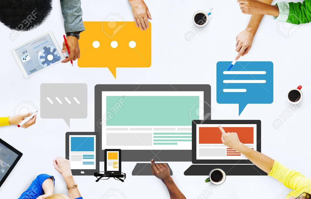 Responsive Design Internet Communication Technology Concept - 41467454