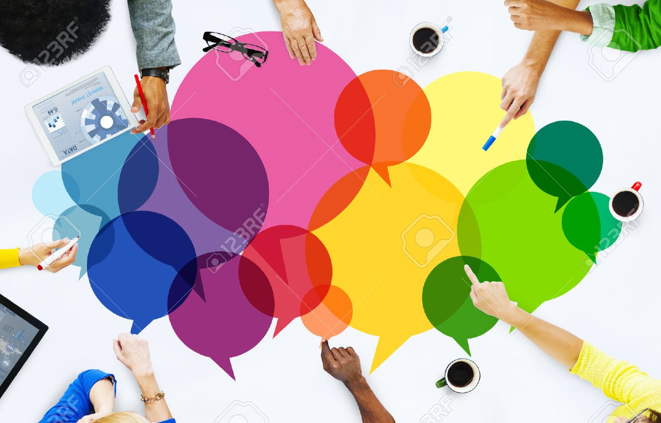 Casual People Message Talking Communication Concept Stock Photo - 41468085