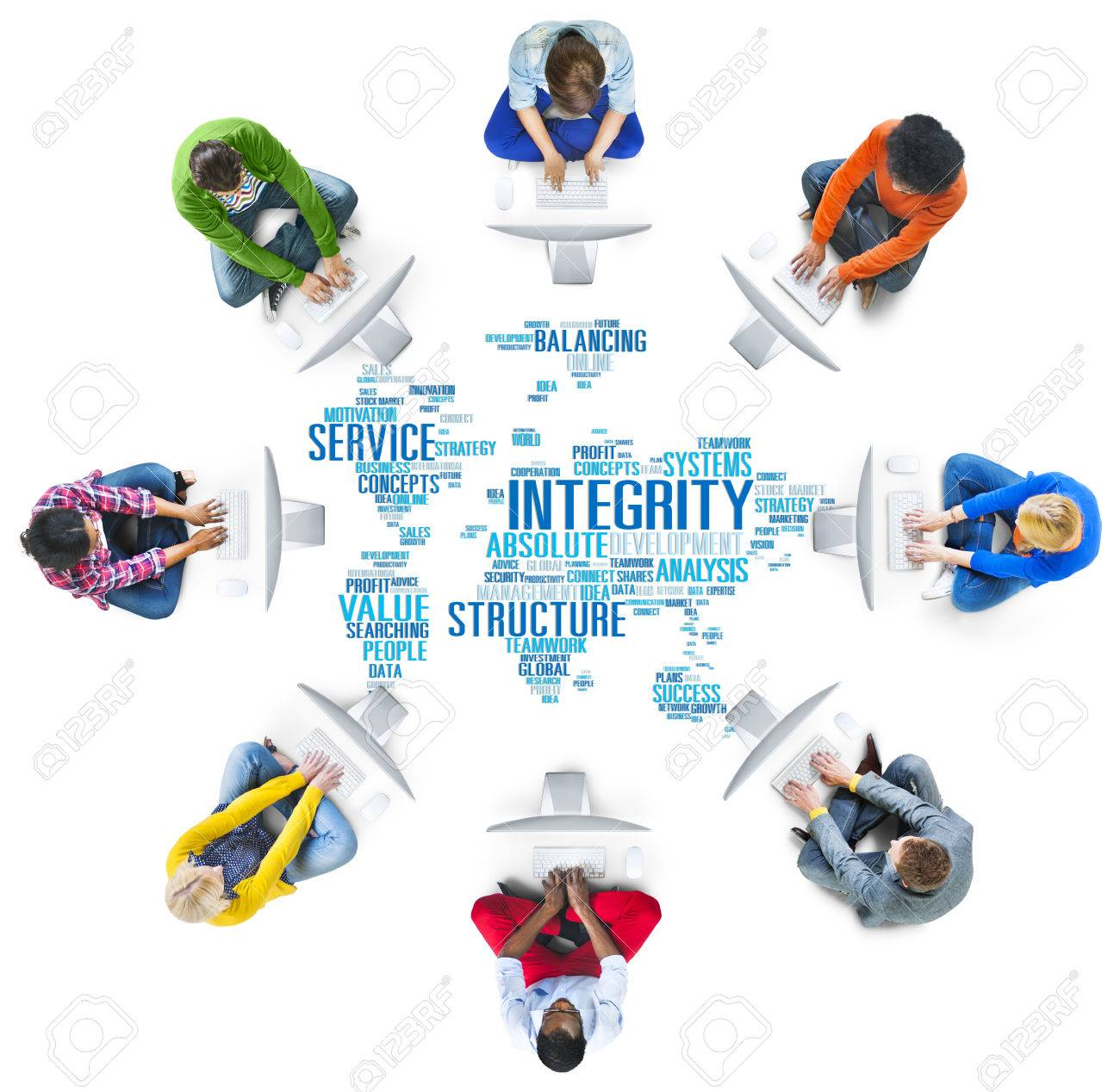 Integrity Honesty Sincerity Trust Reliability Concept Stock Photo