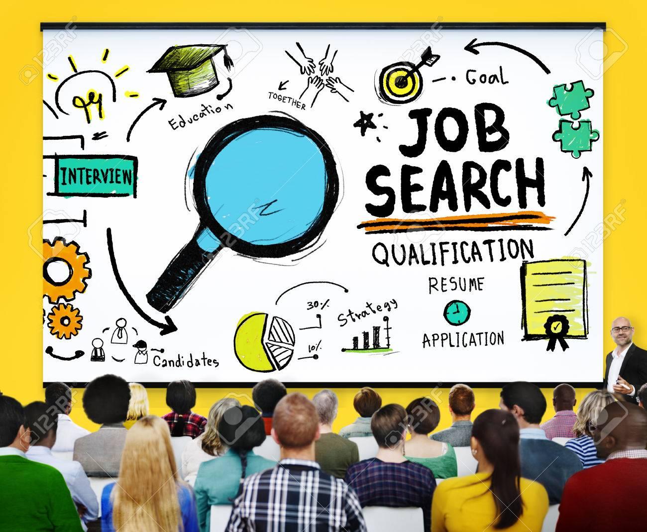 Job Search Qualification Resume Recruitment Hiring Application ...
