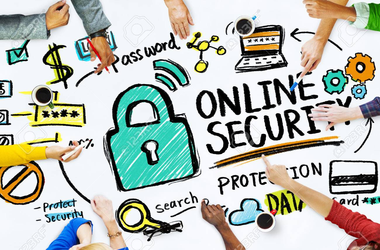 Online Security Protection Internet Safety People Meeting Concept Stock Photo Picture And Royalty Free Image Image 41873627
