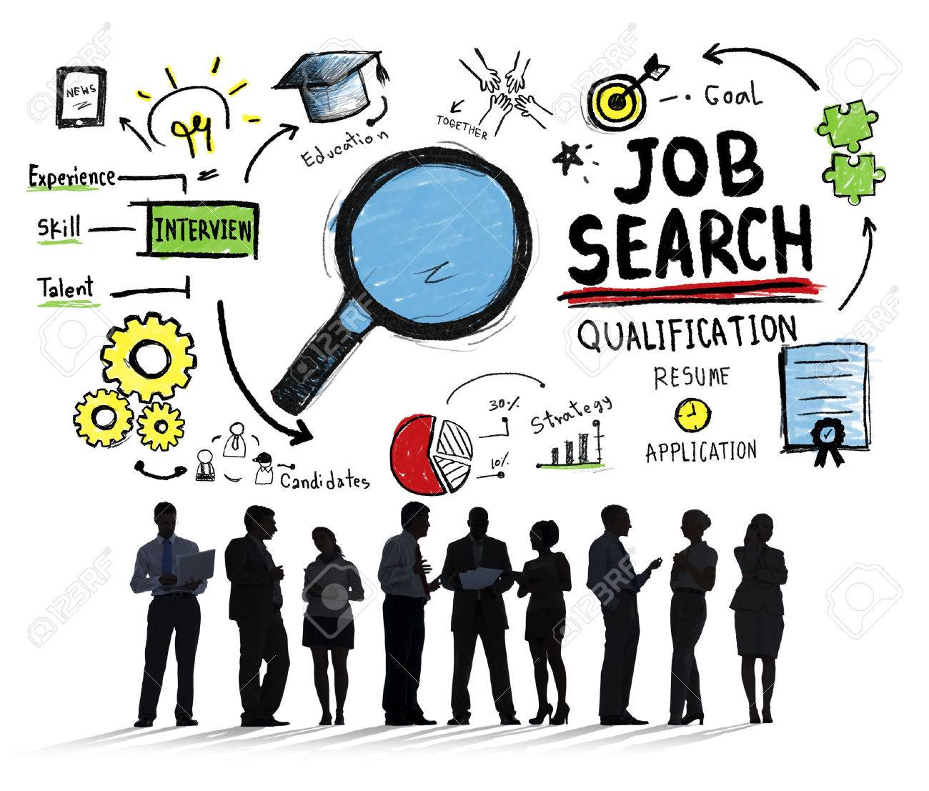 Business People Discussion Aspiration Job Search Concept Stock Photo ...