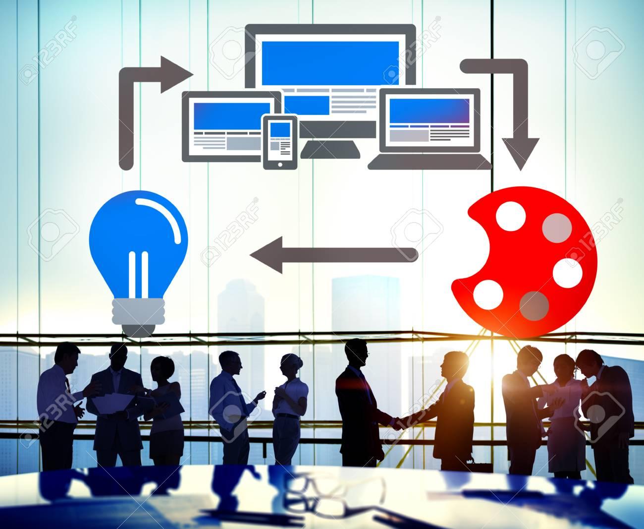 Web Design Online Technologie Layout Design Konzept