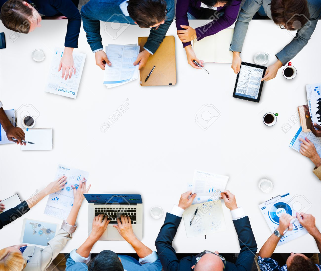 Diversity Business Team Planning Board Meeting Strategy Concept Stock Photo - 44604427