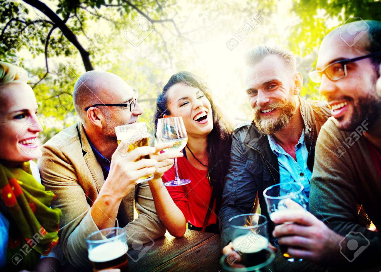 Friends Friendship Outdoor Chilling Togetherness Concept - 45905620