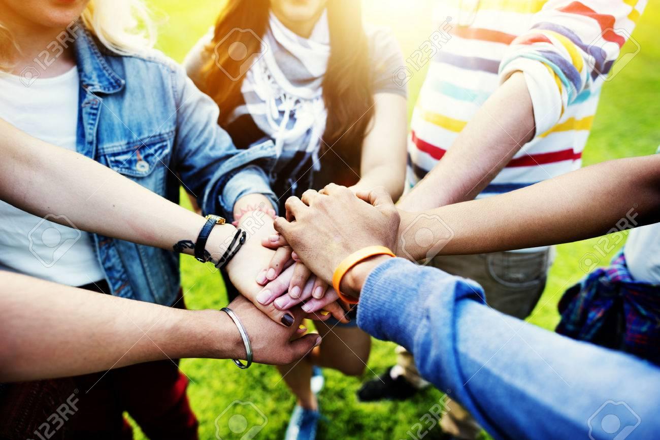 チーム チームワーク関係一緒に団結友情概念 の写真素材・画像素材 ...