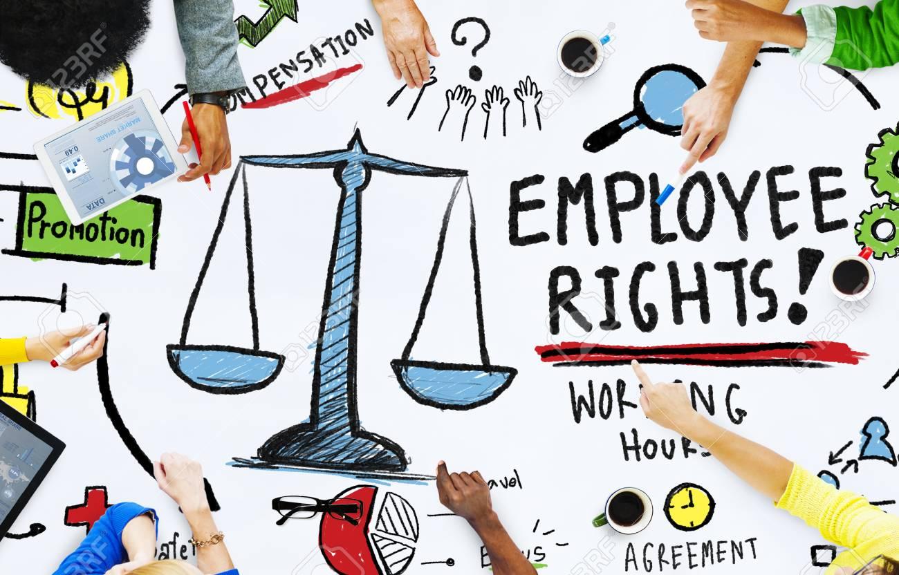 Empleados Derechos Empleo Igualdad Trabajo Personas Reunión Concepto Fotos,  Retratos, Imágenes Y Fotografía De Archivo Libres De Derecho. Image  46338555.