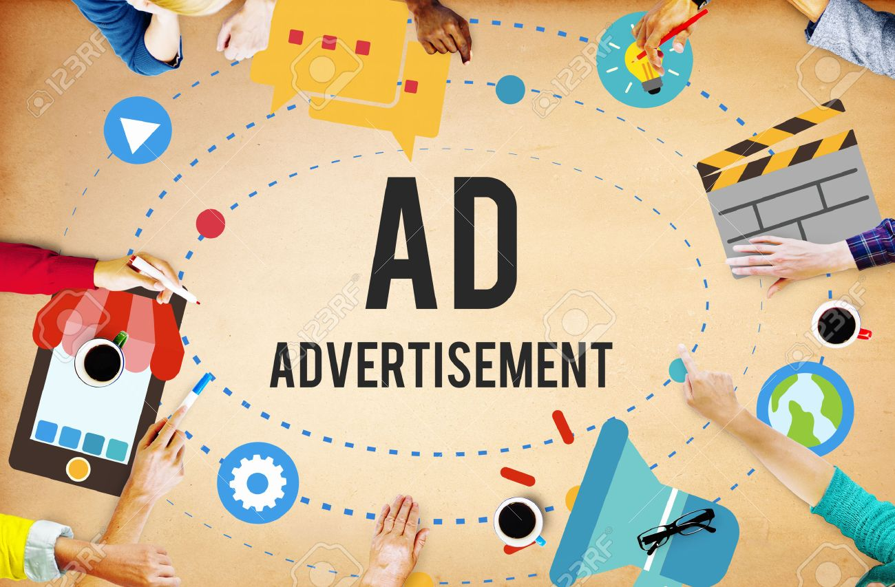 ad advertisement marketing commercial concept stock photo picture