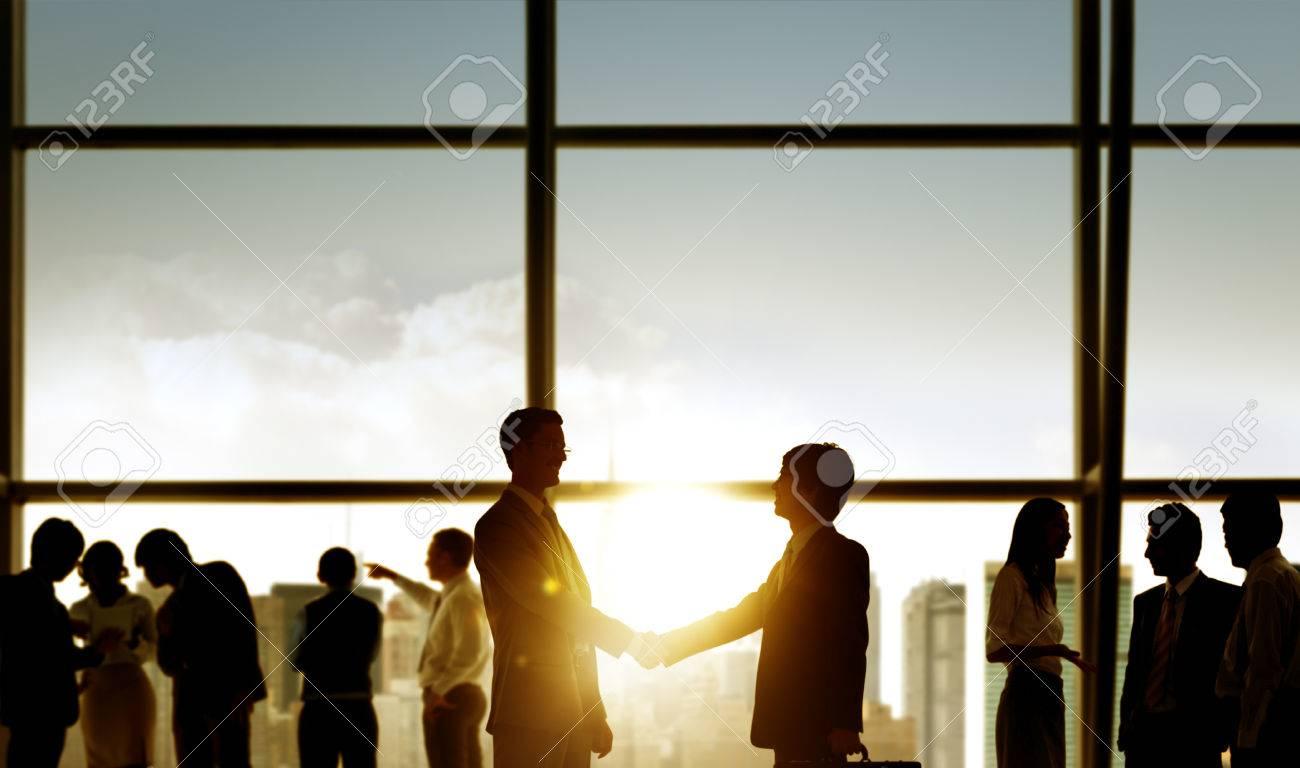 Businessmen Handshake Deal Business Commitment Concept Stock Photo ...