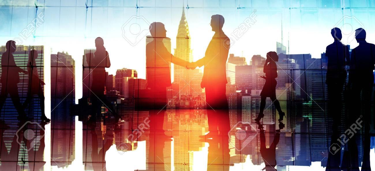 Businessm People Handshake Corporate Greeting Communication Concept - 46773198