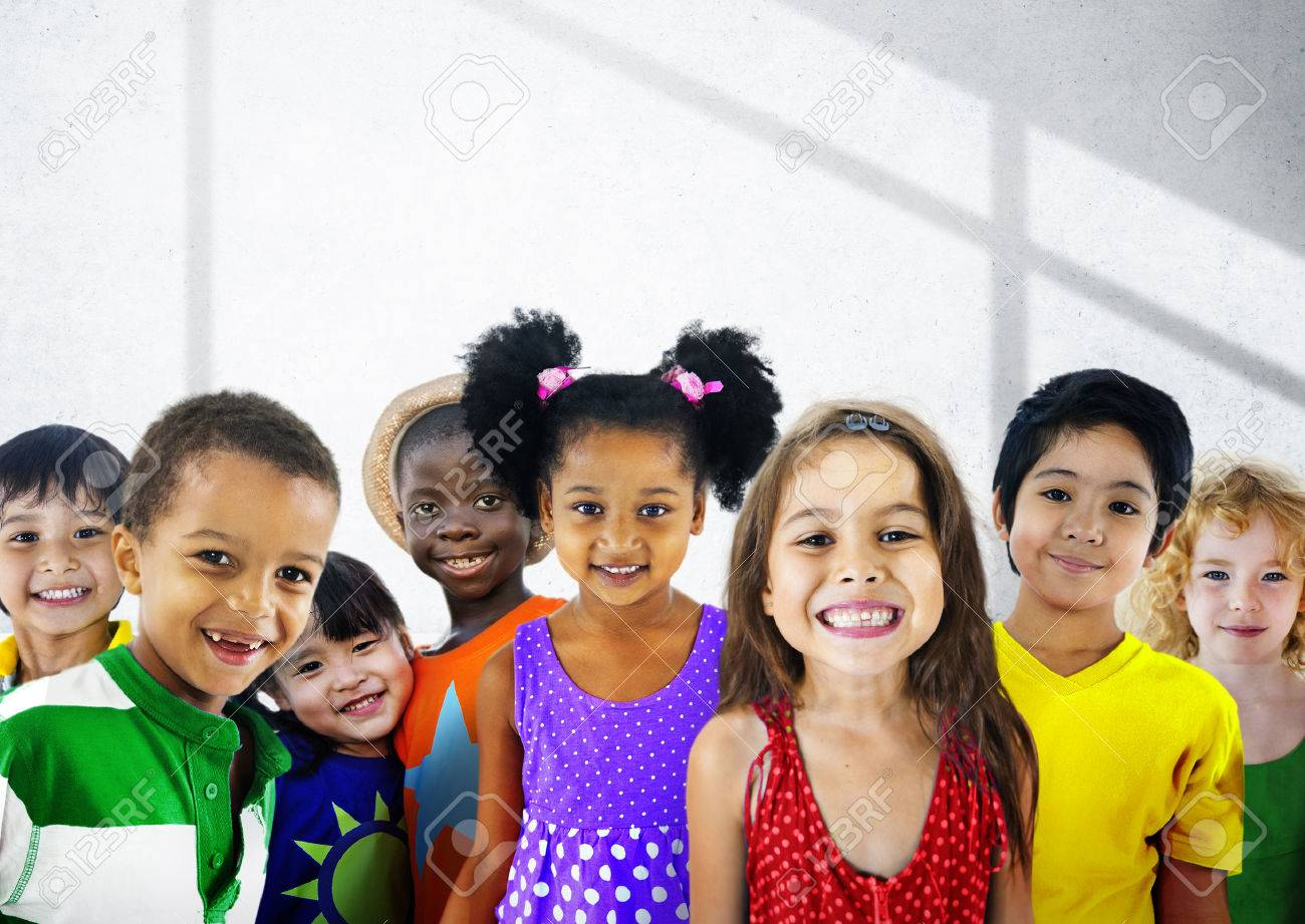 Diversity Children Friendship Innocence Smiling Concept - 47093093
