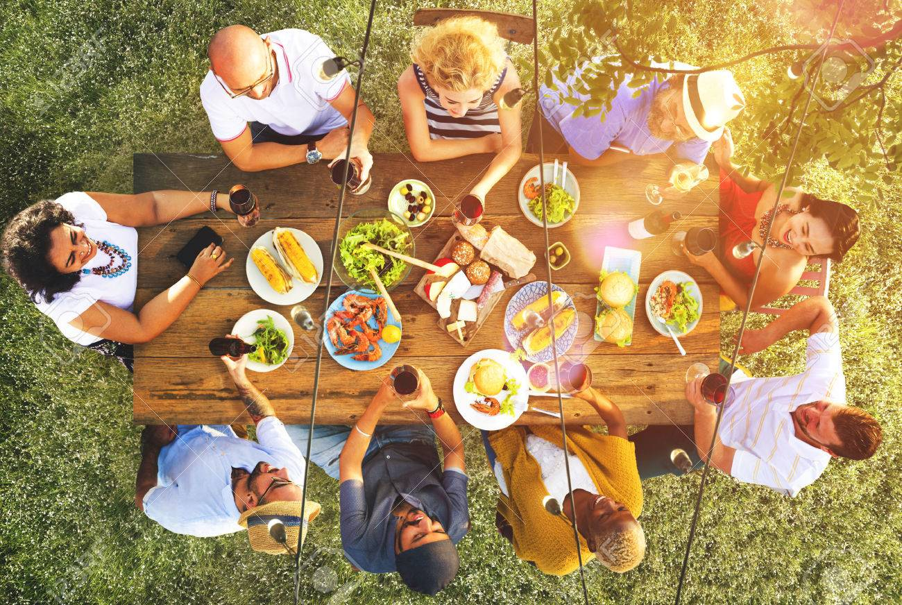Friends Friendship Outdoor Dining People Concept Stock Photo - 47336085