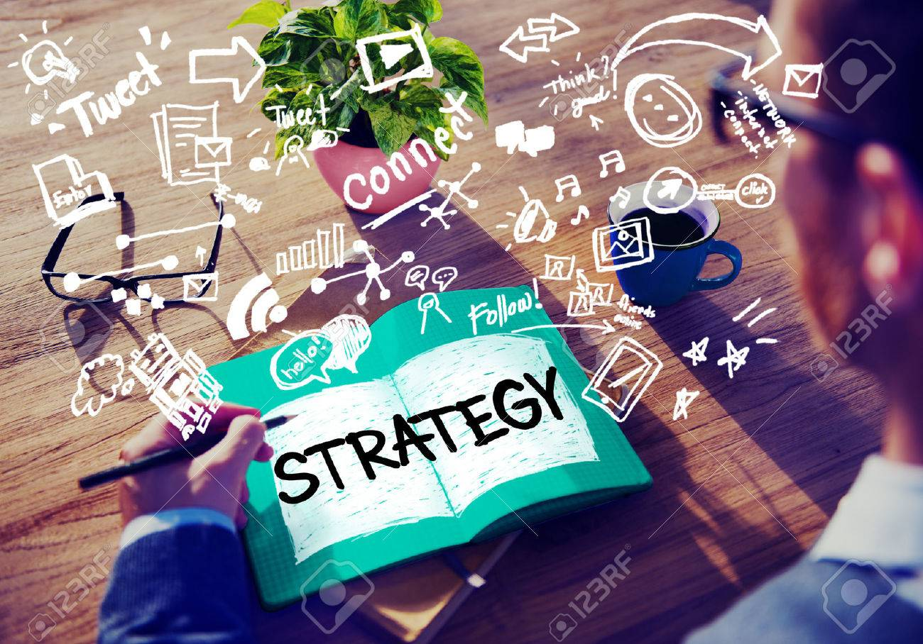 Strategy Online Social Media Networking Marketing Concept - 49341146