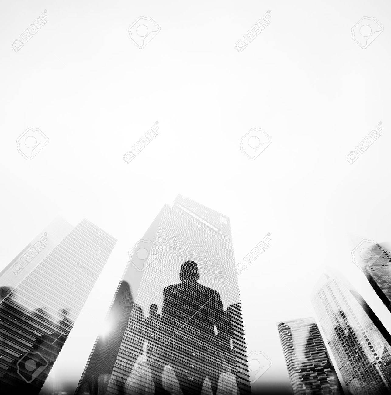 Business People Rush Hour Walking Commuting City Concept - 49915925