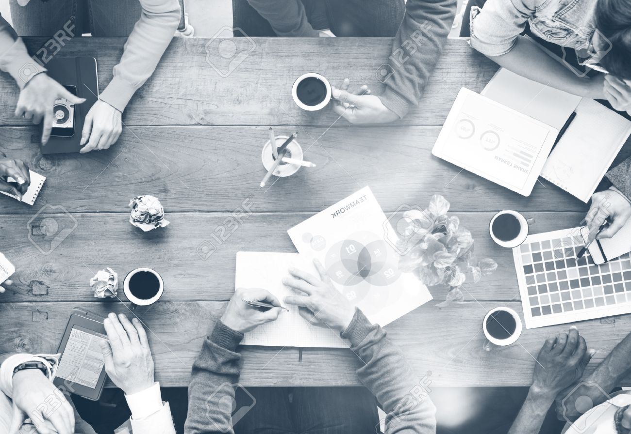 Busy Group of People Discussion Startup Business Concept - 51602440