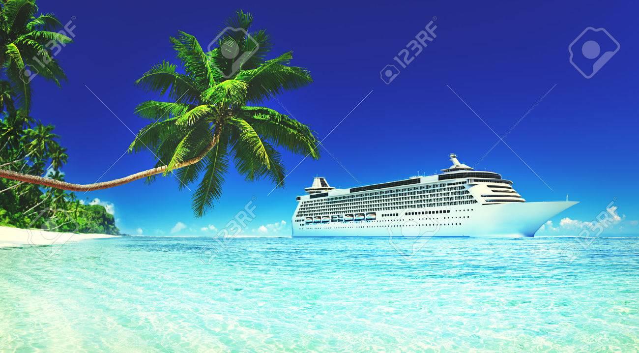 Cruise Vacation Travel Beach Summer Trip Sky Sea Concept - 51596042