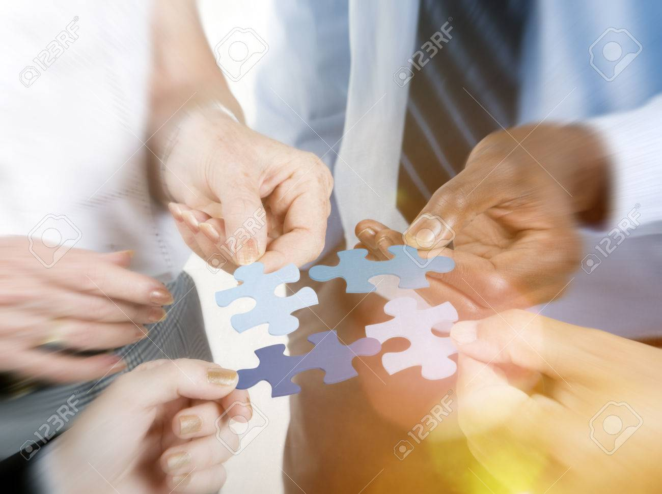 Business Connection Corporate Team Jigsaw Puzzle Concept - 51833030