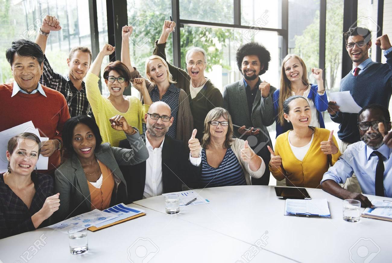 Business Team Success Achievement Arm Raised Concept - 52315490