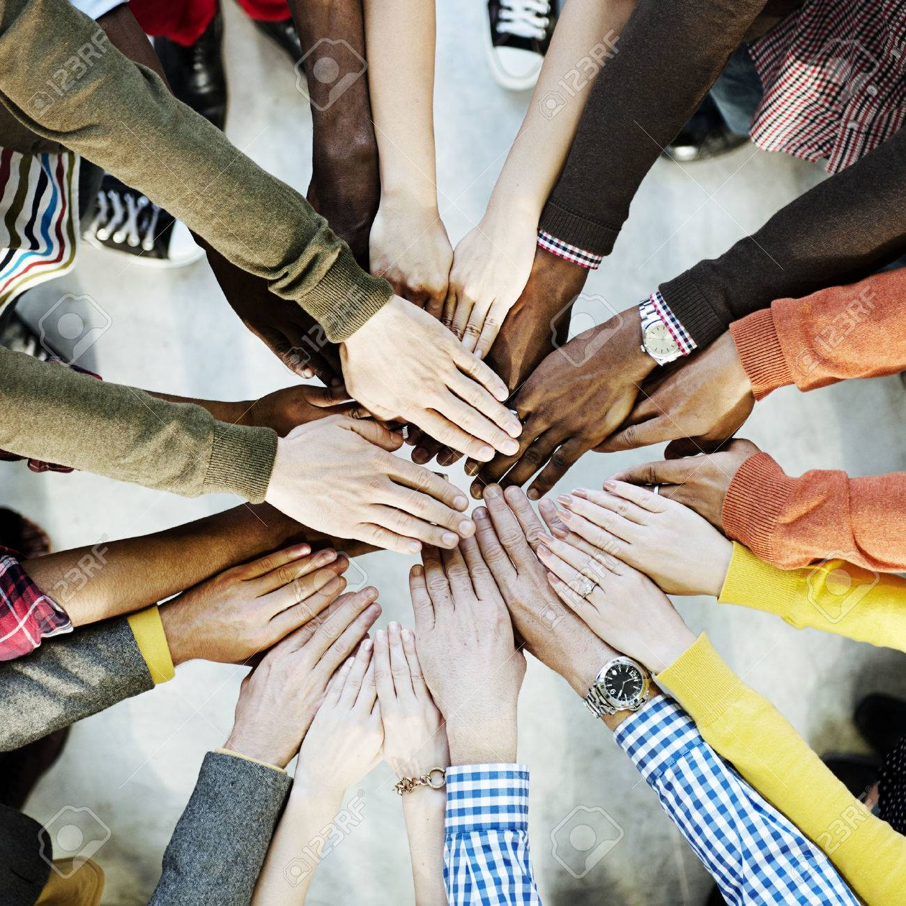 Group of Diverse Hands Together Joining Concept - 52324387