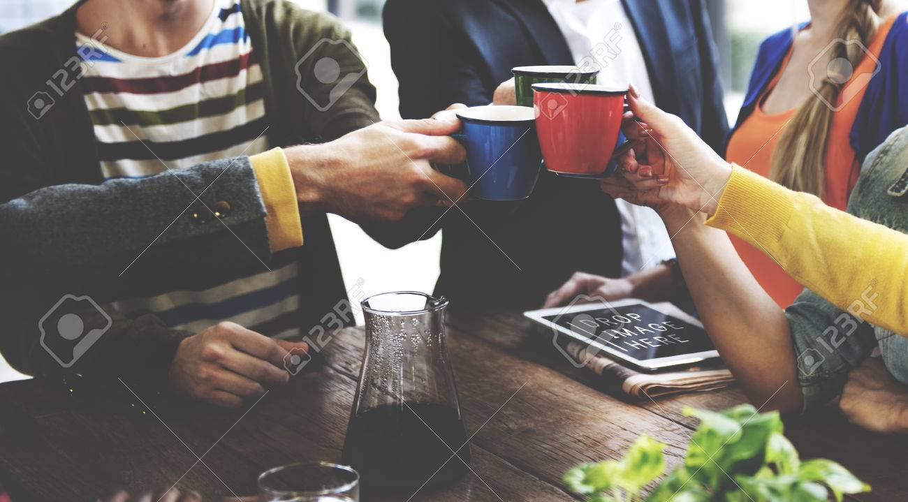 People Meeting Friendship Togetherness Coffee Shop Concept - 52337557