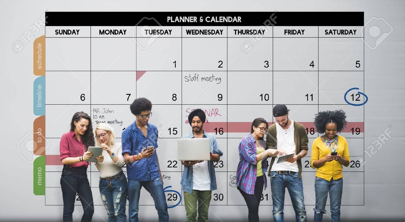 Calender Planner Organization Management Remind Concept Foto de archivo - 52325036
