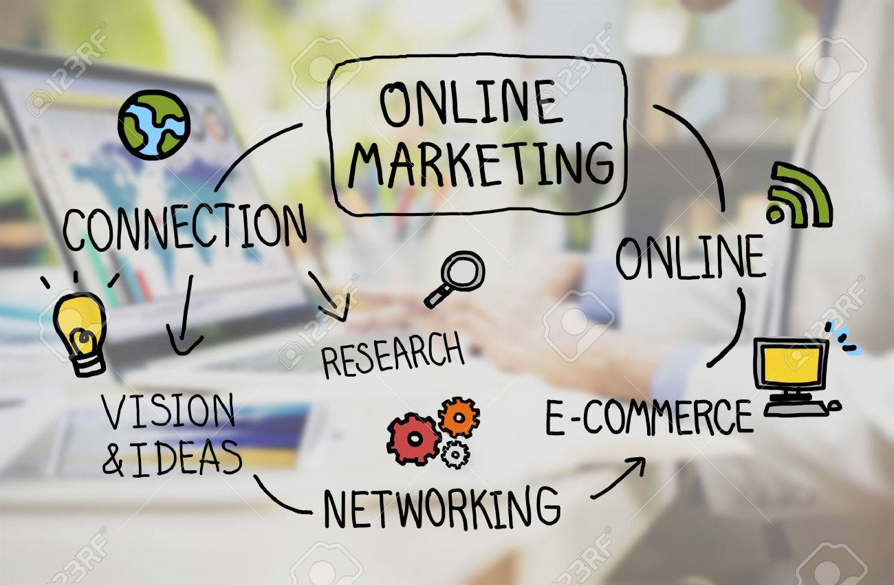 online marketing digital networking strategy vision concept stock online marketing digital networking strategy vision concept stock photo 52334707