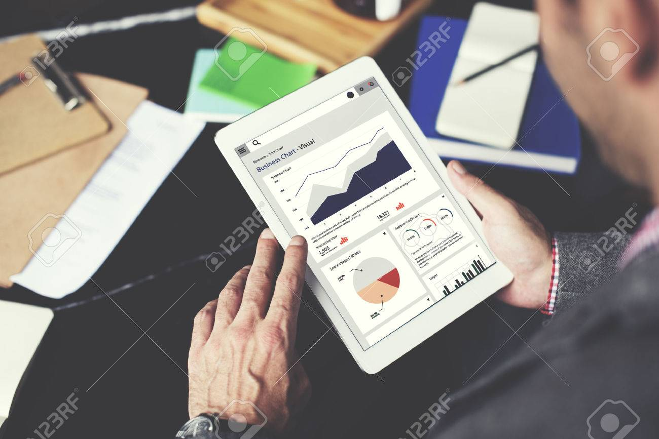 Business Chart Report Statistic Palnning Analysis Concept - 52336954